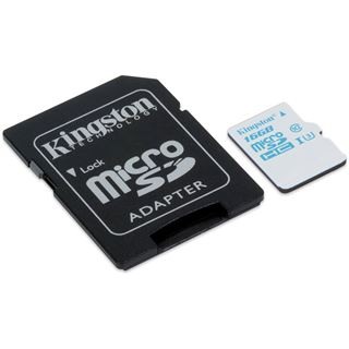 16 GB Kingston Action Camera UHS-I microSDHC Class 10 U3 Retail inkl. Adapter auf SD