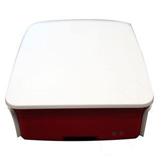 RaspberryPi Gehäuse für B+, 2 & 3, 5-teilig weiß/rot