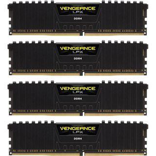 32GB Corsair Vengeance LPX schwarz DDR4-3466 DIMM CL16 Quad Kit