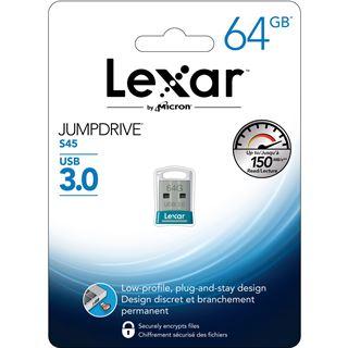 64 GB Lexar JumpDrive S45 silber USB 3.0