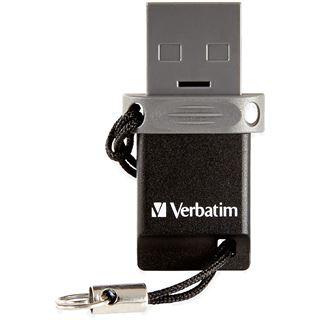 64 GB Verbatim Drive schwarz USB 2.0 und microUSB