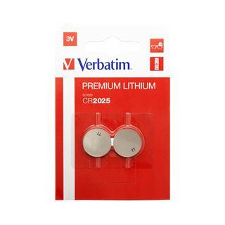 Verbatim Lithium Knopfzelle CR2025 2er Pack