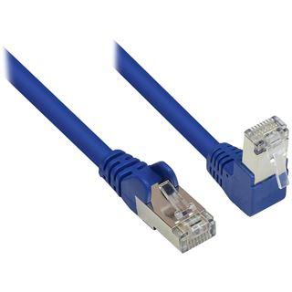 0.25m Good Connections Cat. 6 Patchkabel S/FTP RJ45 Stecker auf RJ45 Stecker gewinkelt Blau
