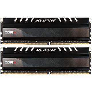 16GB Avexir Core Series yellow LED DDR4-2400 DIMM CL16 Dual Kit