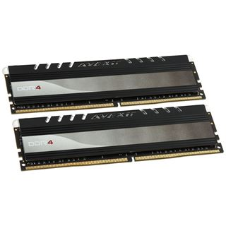 8GB Avexir Core Series white LED DDR4-2400 DIMM CL16 Dual Kit
