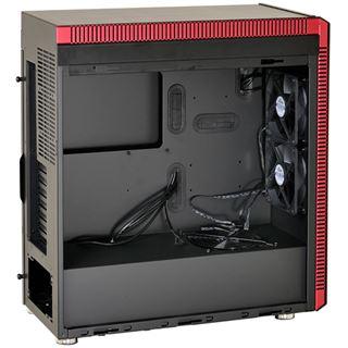 Lian Li PC-J60 mit Sichtfenster Midi Tower ohne Netzteil schwarz/rot