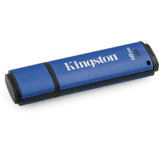 16 GB Kingston DataTraveler Vault Privacy Management blau USB 3.0