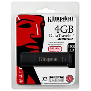 4 GB Kingston DataTravaler 4000 G2 schwarz USB 3.0