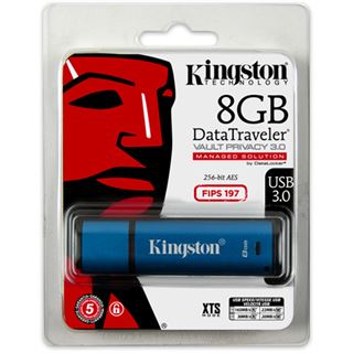 8 GB Kingston DataTraveler Vault Privacy 3.0 blau USB 3.1