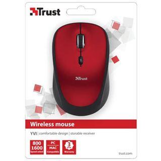 Trust Yvi Wireless Mini Mouse USB rot (kabellos)