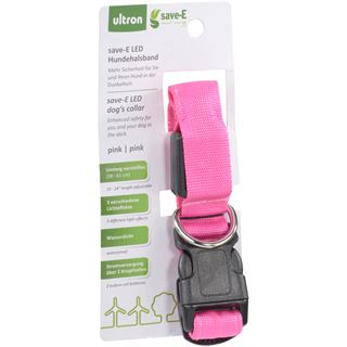 Ultron LED save-E LED Hundehalsband pink