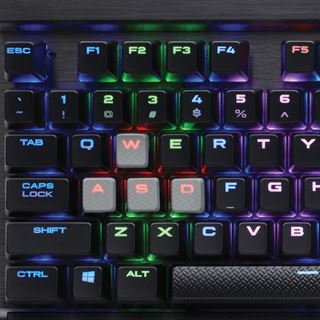 Corsair K65 RGB RAPIDFIRE CHERRY MX RGB Speed USB Deutsch schwarz (kabelgebunden)