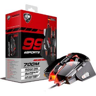 Cougar 700M Laser Gaming Maus eSports Edition USB schwarz/rot (kabelgebunden)