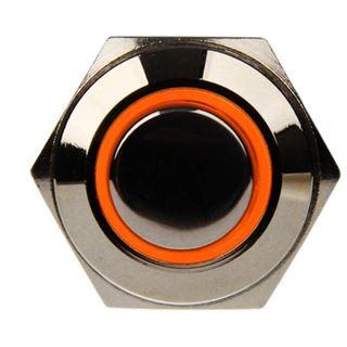 DimasTech Vandalismustaster 16mm - Silverline - orange