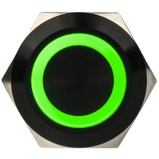 DimasTech Vandalismusschalter/-taster 19mm - Blackline - grün