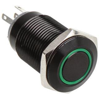 DimasTech Vandalismustaster 16mm - Blackline - grün