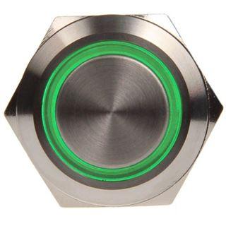 DimasTech Vandalismusschalter/-taster 19mm - Silverline - grün