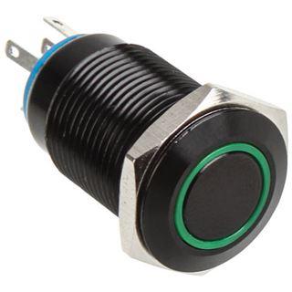 DimasTech Vandalismusschalter/-taster 16mm - Blackline - grün