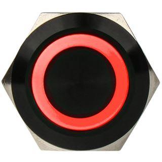 DimasTech Vandalismusschalter/-taster 19mm - Blackline - rot