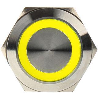 DimasTech Vandalismusschalter/-taster 22mm - Silverline - gelb