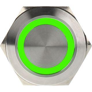 DimasTech Vandalismusschalter/-taster 25mm - Silverline - grün