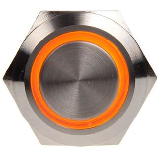 DimasTech Vandalismustaster 19mm - Silverline - orange
