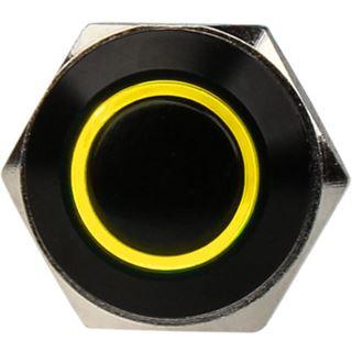 DimasTech Vandalismustaster 16mm - Blackline - gelb