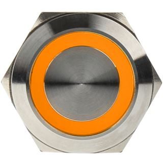 DimasTech Vandalismustaster 22mm - Silverline - orange