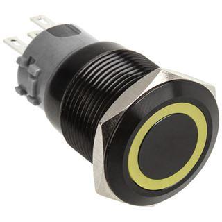 DimasTech Vandalismustaster 19mm - Blackline - gelb