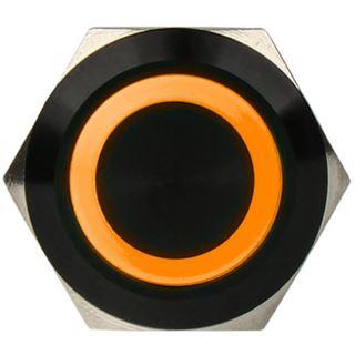 DimasTech Vandalismustaster 19mm - Blackline - orange