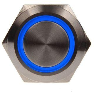 DimasTech Vandalismustaster 19mm - Silverline - blau