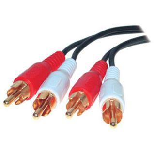 (€7,80*/1m) 0.50m ShiverPeaks Audio Verbindungskabel Basic Line 2xCinch Stecker auf 2xCinch Stecker Weiß/Rot 2-fach/vergoldet