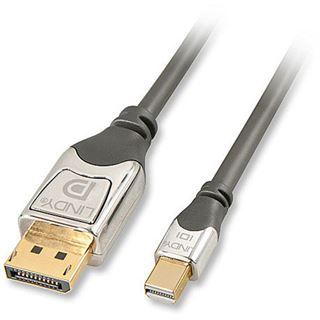 (€37,80*/1m) 0.50m Lindy Displayport 1.4 Anschlusskabel Cromo Displayport Stecker auf Mini Displayport Stecker Anthrazit vergoldete Stecker