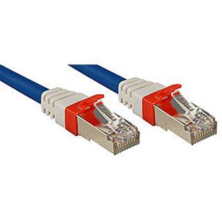 (€3,95*/1m) 2.00m Lindy Cat. 6a Patchkabel S/FTP PiMF RJ45 Stecker auf RJ45 Stecker Blau geschirmt/vergoldet