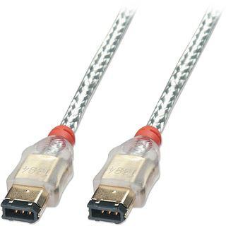 (€4,87*/1m) 4.50m Lindy FireWire800 Verbindungskabel Firewire F-Stecker auf F-Stecker Transparent