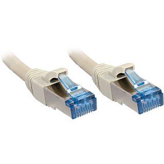 (€2,18*/1m) 5.00m Lindy Cat. 6a Patchkabel S/FTP PiMF RJ45 Stecker auf RJ45 Stecker Grau geschirmt/Klinkenschutz/vergoldet