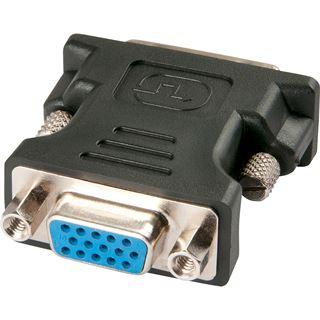 Lindy DVI-A Adapter DVI 12+5 Stecker auf VGA 15pol Buchse Schwarz