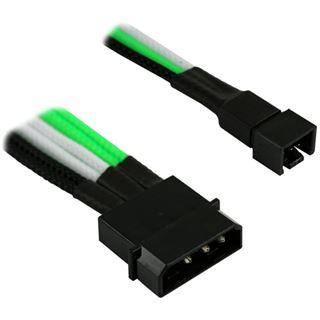 Nanoxia 4-Pin Molex auf 2 x 3-Pin Adapter-30cm,grün/weiß/schwarz