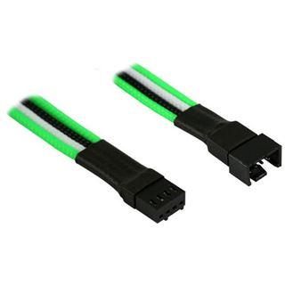 Nanoxia 4-Pin PWM Verlängerung - 30 cm, grün/weiß/schwarz