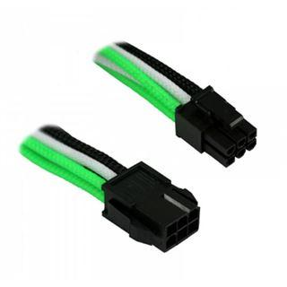 Nanoxia PCI-E 6 Pin auf 6+2 Pin Adapter in grün/weiß/schwarz 30cm