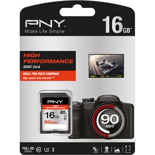 16 GB PNY High Performance 90 MB/s SDXC Class 10 Retail