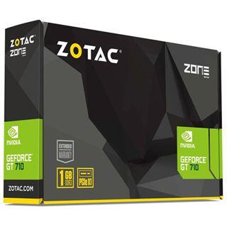 1GB ZOTAC GeForce GT 710 Low Profile Passiv PCIe 2.0 x1 (Retail)