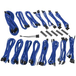 BitFenix Alchemy 2.0 PSU Cable Kit, EVG-Series - blau