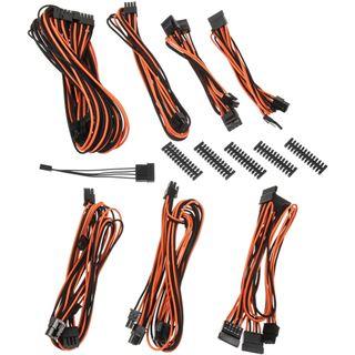 BitFenix Alchemy 2.0 PSU Cable Kit, BQT-Series SP10 - schwarz/orange