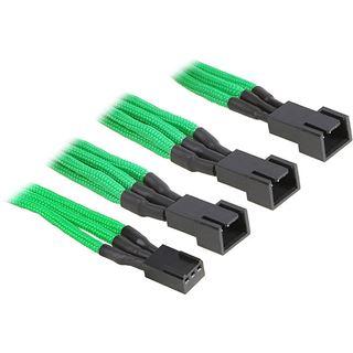BitFenix 3-Pin zu 3x 3-Pin Adapter 60cm - sleeved grün/schwarz