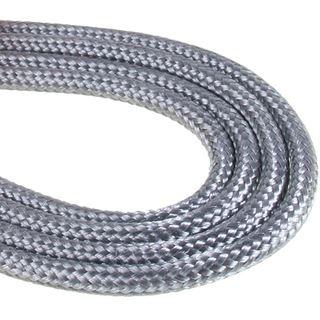 BitFenix Molex Verlängerung 45cm - sleeved silber/schwarz
