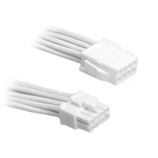 BitFenix 8-Pin EPS12V Verlängerung 45cm - sleeved weiß/weiß