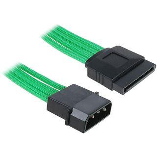 BitFenix Molex zu SATA Adapter 45 cm - sleeved grün/schwarz