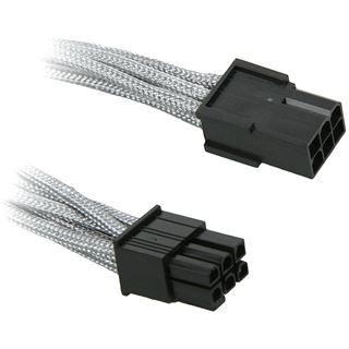 BitFenix 6-Pin PCIe Verlängerung 45cm - sleeved silber/schwarz