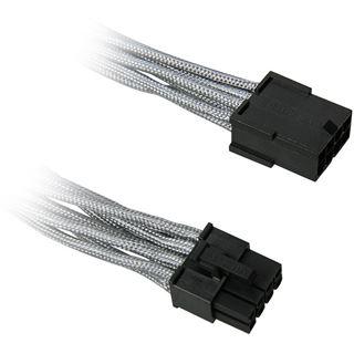 BitFenix 8-Pin PCIe Verlängerung 45cm - sleeved silber/schwarz